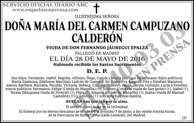 María del Carmen Campuzano Calderón